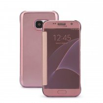 Clear View cover Samsung Galaxy S7 rose goud