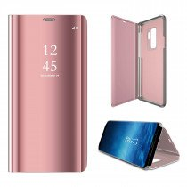 Clear View cover Samsung Galaxy S9 rose goud