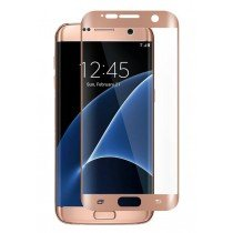 Curved Tempered Glass Samsung Galaxy S7 Edge rose goud