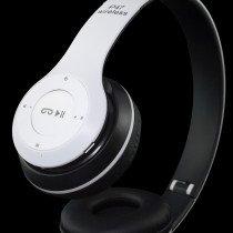 Draadloze bluetooth koptelefoon met FM radio - wit