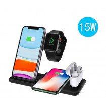 Draadloze laad dock voor 2x smartphone - 1x Apple Watch - 1x AirPods