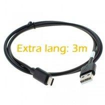 USB-C naar USB kabel - 3 meter - zwart