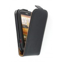 Flip case dual color HTC Desire C zwart