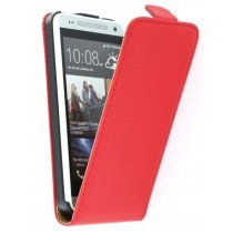 Flip case dual color HTC One Mini rood