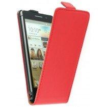 Flip case dual color Huawei Ascend P6 rood