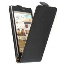 Flip case dual color Huawei Ascend P6 zwart