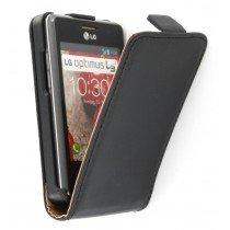 Flip case dual color LG Optimus L3 II E430 zwart