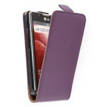 Flip case dual color LG Optimus L7 II P710 paars