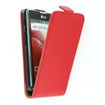 Flip case dual color LG Optimus L7 II P710 rood