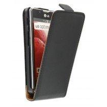 Flip case dual color LG Optimus L7 II P710 zwart
