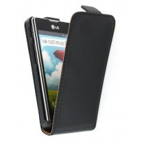 Flip case dual color LG Optimus L5 II E460 zwart