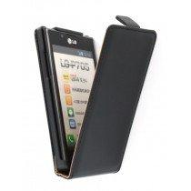 Flip case dual color LG Optimus L7 P700 zwart