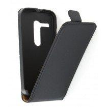 Flip case dual color Motorola Moto G zwart