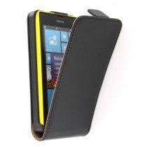 Flip case dual color Nokia Lumia 520 zwart