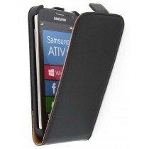 Flip case dual color Samsung Ativ S i8750 zwart