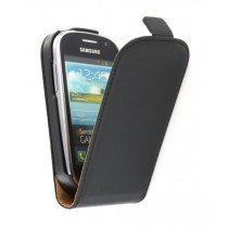 Flip case dual color Samsung Galaxy Fame S6810 zwart