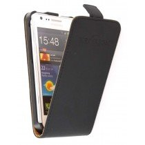 Flip case dual color Samsung Galaxy S2 / S2 Plus zwart