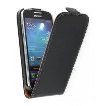 Flip case dual color Samsung Galaxy S4 Mini i9195 zwart
