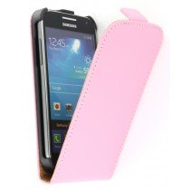 Flip case dual color Samsung Galaxy S4 Mini i9195 licht roze