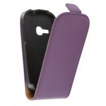 Flip case dual color Samsung Galaxy Young S6310 paars