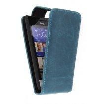 Flip case HTC 8S blauw