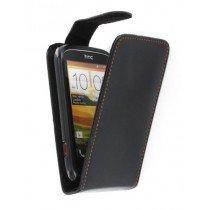Flip case HTC Desire C zwart