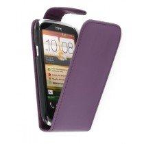Flip case HTC Desire X paars