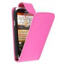 Flip case HTC Desire X roze