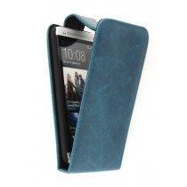 Flip case HTC One blauw