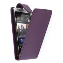 Flip case HTC One Mini paars