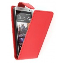 Flip case HTC One Mini rood