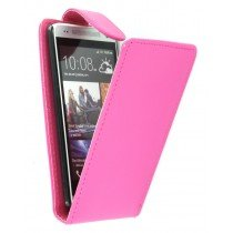 Flip case HTC One Mini roze