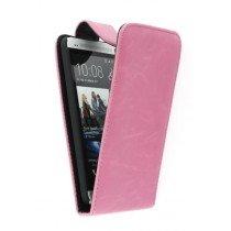 Flip case HTC One roze
