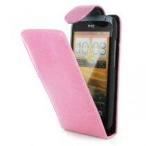 Flip case HTC One S roze