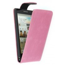 Flip case Huawei Ascend P6 roze