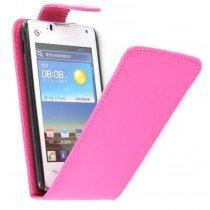 Flip case Huawei Ascend Y300 roze