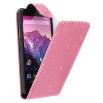 Flip case LG Nexus 5 roze