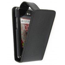 Flip case LG Optimus L3 II E430 zwart