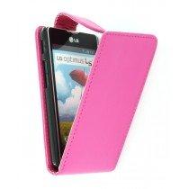 Flip case LG Optimus L5 II E460 roze