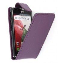 Flip case LG Optimus L7 II P710 paars