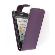 Flip case LG Optimus L7 P700 paars