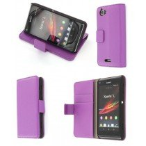 Flip case met stand Sony Xperia L paars