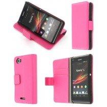 Flip case met stand Sony Xperia L roze