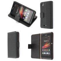 Flip case met stand Sony Xperia L zwart