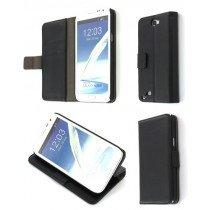 Flip case met stand Samsung Galaxy Note 2 N7100 zwart