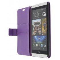 M-Supply Flip case met stand HTC Desire 816 paars