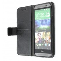 M-Supply Flip case met stand HTC One M8 zwart