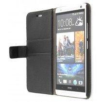 Flip case met stand HTC One Max zwart