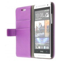 Flip case met stand HTC One Mini paars