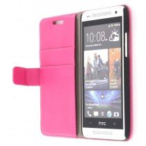 Flip case met stand HTC One Mini roze